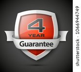 shield with a text guarantee... | Shutterstock . vector #1066944749