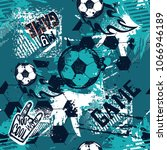 abstract seamless football... | Shutterstock .eps vector #1066946189