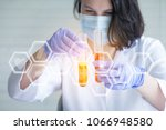 scientists do some scientific... | Shutterstock . vector #1066948580