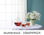 room of the blue wall and window   Shutterstock . vector #1066949624