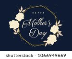 mother's day greetings  card... | Shutterstock .eps vector #1066949669