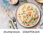 italian pasta fettuccine in a... | Shutterstock . vector #1066956164