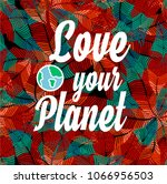 beautiful poster love your... | Shutterstock .eps vector #1066956503
