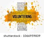volunteering word cloud collage ...   Shutterstock .eps vector #1066959839