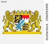 emblem of bavaria  province of... | Shutterstock .eps vector #1066963400