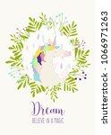 vector illustration of unicorn... | Shutterstock .eps vector #1066971263