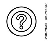 question mark icon isolated on... | Shutterstock .eps vector #1066986230