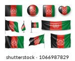 set afghanistan flags  banners  ... | Shutterstock .eps vector #1066987829
