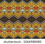 ikat geometric folklore... | Shutterstock .eps vector #1066988480