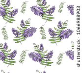 seamless pattern with violet... | Shutterstock .eps vector #1066988903