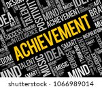 achievement word cloud collage  ...   Shutterstock .eps vector #1066989014
