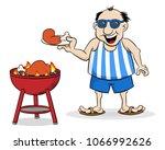 vector illustration of a man... | Shutterstock .eps vector #1066992626
