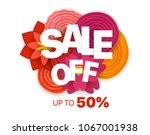 season sale banner vector... | Shutterstock .eps vector #1067001938