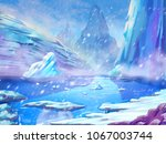North Polar Snow Land With...