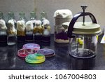 anaerobic gas jar along with... | Shutterstock . vector #1067004803