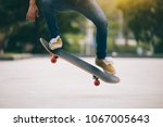 Skateboarder Skateboarding  On...