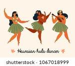 Hawaiian Hula Dancers Young...