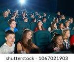 schoolmates watching fancy...   Shutterstock . vector #1067021903