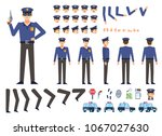 police officer creation kit.... | Shutterstock .eps vector #1067027630