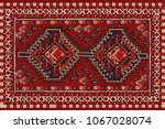 persian carpet  tribal vector... | Shutterstock .eps vector #1067028074