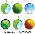 set of vector icons of harmony... | Shutterstock .eps vector #106703438
