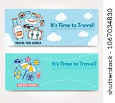 it s time to travel.trip to... | Shutterstock .eps vector #1067034830