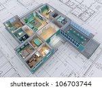cross section of residential... | Shutterstock . vector #106703744