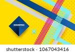 hipster modern geometric... | Shutterstock .eps vector #1067043416