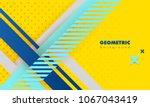 hipster modern geometric... | Shutterstock .eps vector #1067043419