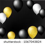 black  white  gold and with... | Shutterstock .eps vector #1067043824