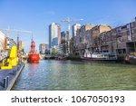 rotterdam  the netherlands  ... | Shutterstock . vector #1067050193