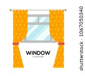 window curtains vector... | Shutterstock .eps vector #1067050340
