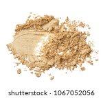 crushed texture of beige eye... | Shutterstock . vector #1067052056