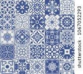vector set of tiles background... | Shutterstock .eps vector #1067052293