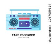 tape recorder vector... | Shutterstock .eps vector #1067059814