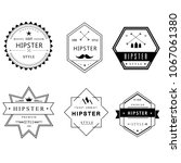 icon hipster vector symbol sign ... | Shutterstock .eps vector #1067061380