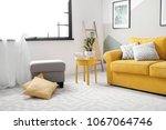 stylish living room interior... | Shutterstock . vector #1067064746