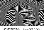 black white line distortion... | Shutterstock .eps vector #1067067728