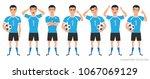 footballer character... | Shutterstock .eps vector #1067069129