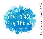 watercolor imitation blue ocean ... | Shutterstock .eps vector #1067074706