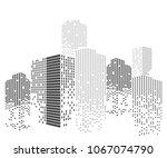 modern city skyline life... | Shutterstock .eps vector #1067074790