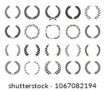 collection of different black... | Shutterstock .eps vector #1067082194