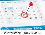 closeup of dates on calendar... | Shutterstock . vector #1067083580