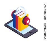 audiobooks isometric concept.... | Shutterstock .eps vector #1067087264