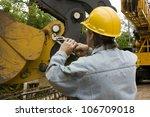 heavy equipment mechanic...   Shutterstock . vector #106709018