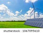 new energy  solar energy and... | Shutterstock . vector #1067095610