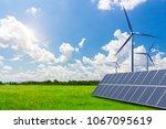 new energy  solar energy and... | Shutterstock . vector #1067095619