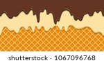 seamless pattern. current icing ... | Shutterstock .eps vector #1067096768