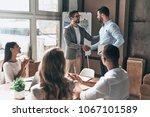 great presentation   group of... | Shutterstock . vector #1067101589