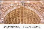 fragment of arch of constantine ... | Shutterstock . vector #1067103248